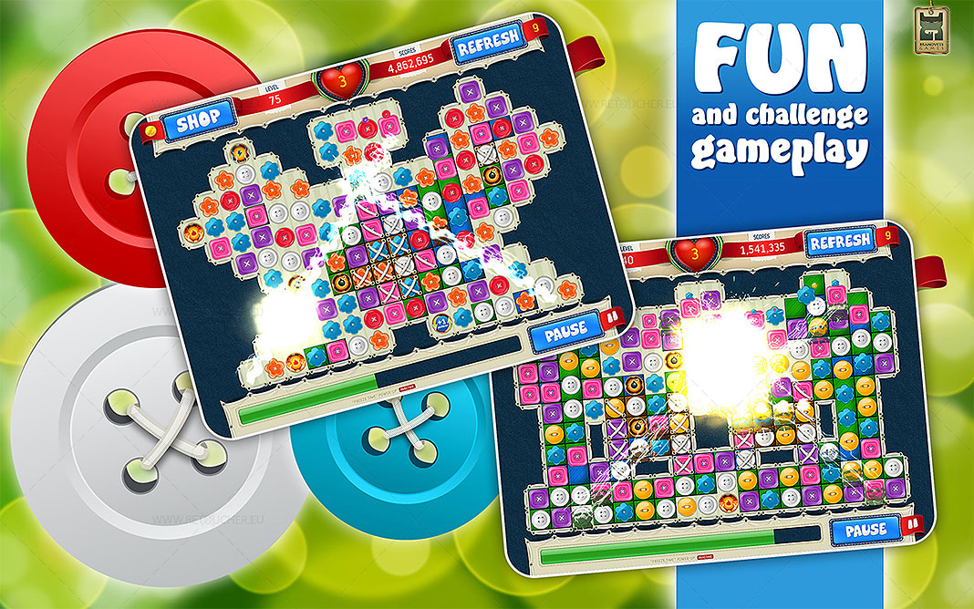 Small Buttons: mobile match3 casual game