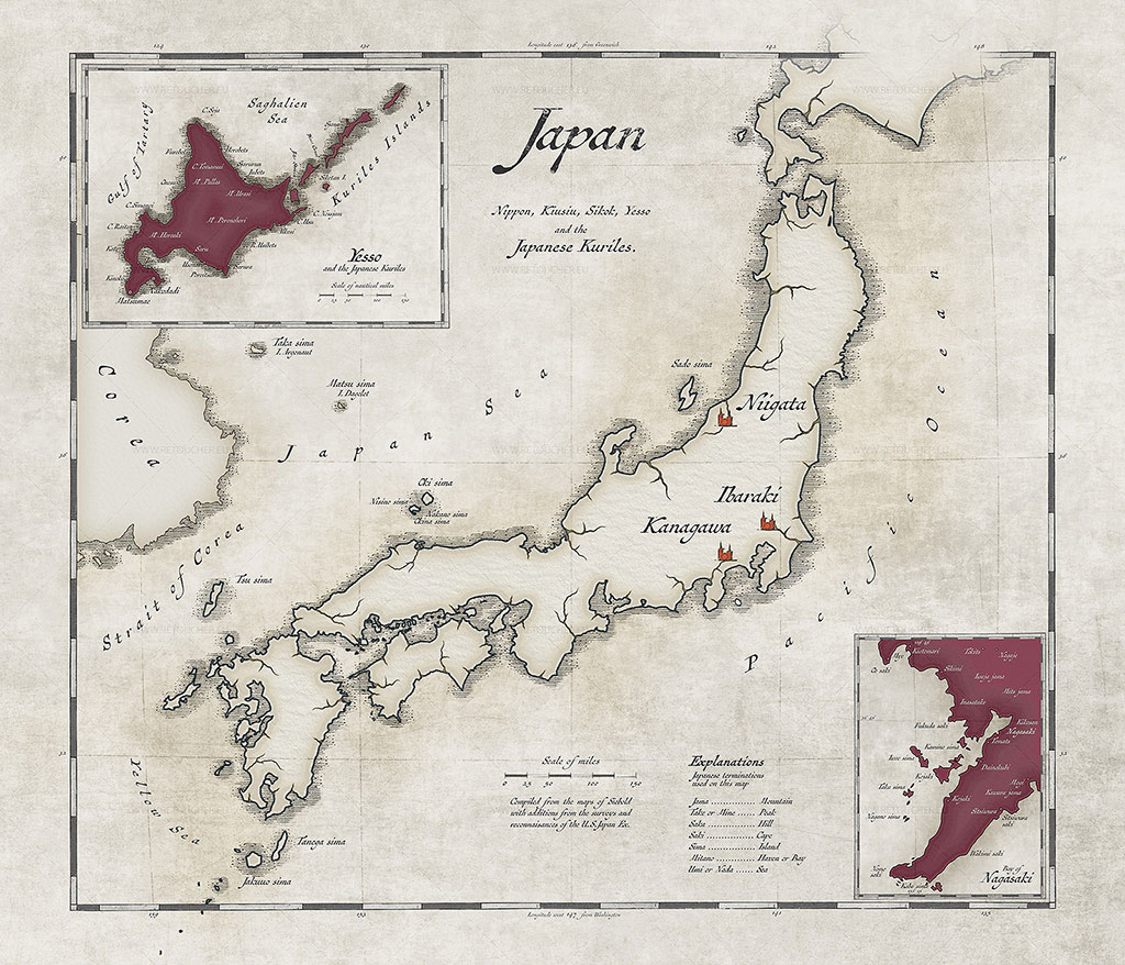 Making of: Vintage Map of Japan